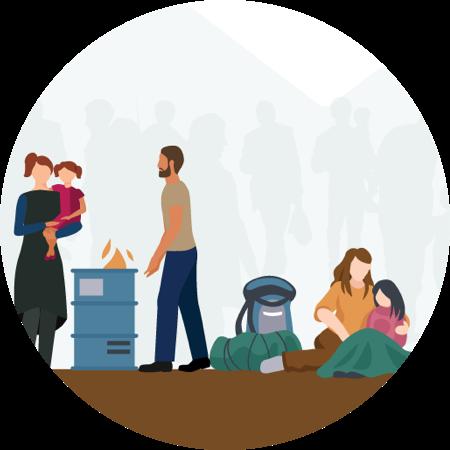 Seek Safety stage of refugee journey map